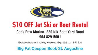 Raging Water Sports Jet Ski and Boat Rental Coupon
