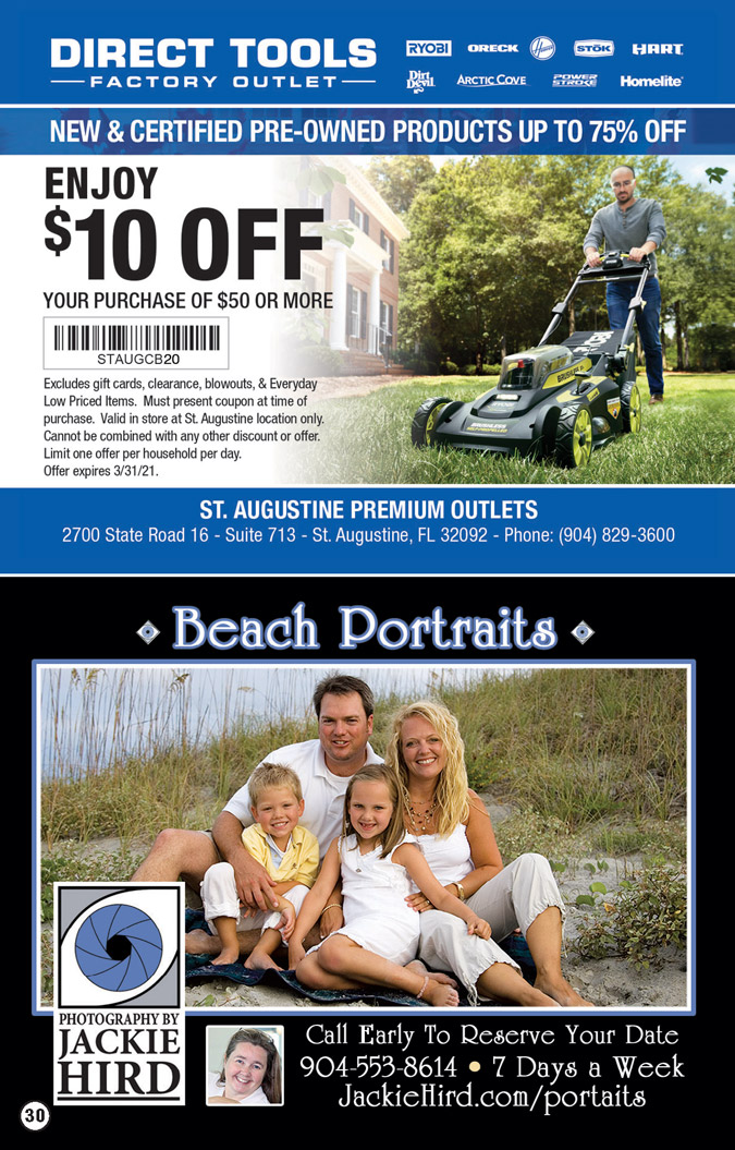 st augustine outlet coupon book