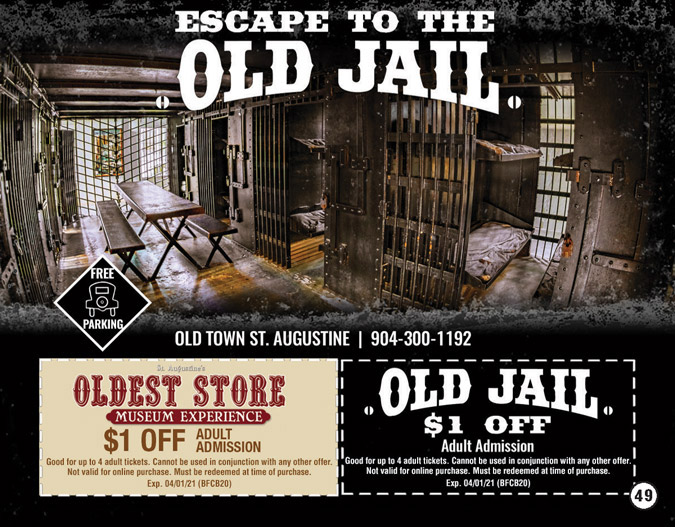 The Old Jail Activity Coupon 2019